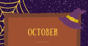 10月のメニュー